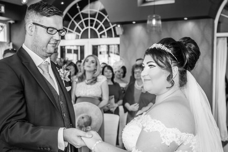 Wedding Photography Ceremony in Swansea, Carmarthenshire, The Gower and South Wales Black and White