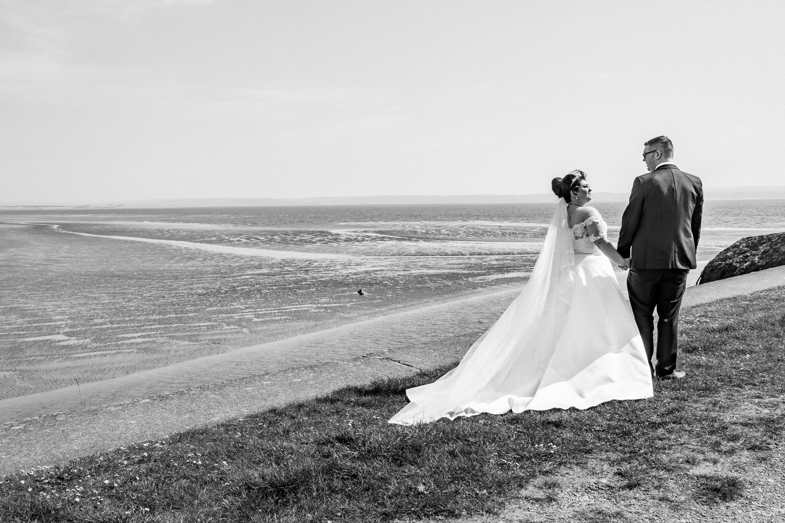 Seaside and Beach Wedding Photography near the Gower and Swansea Beach