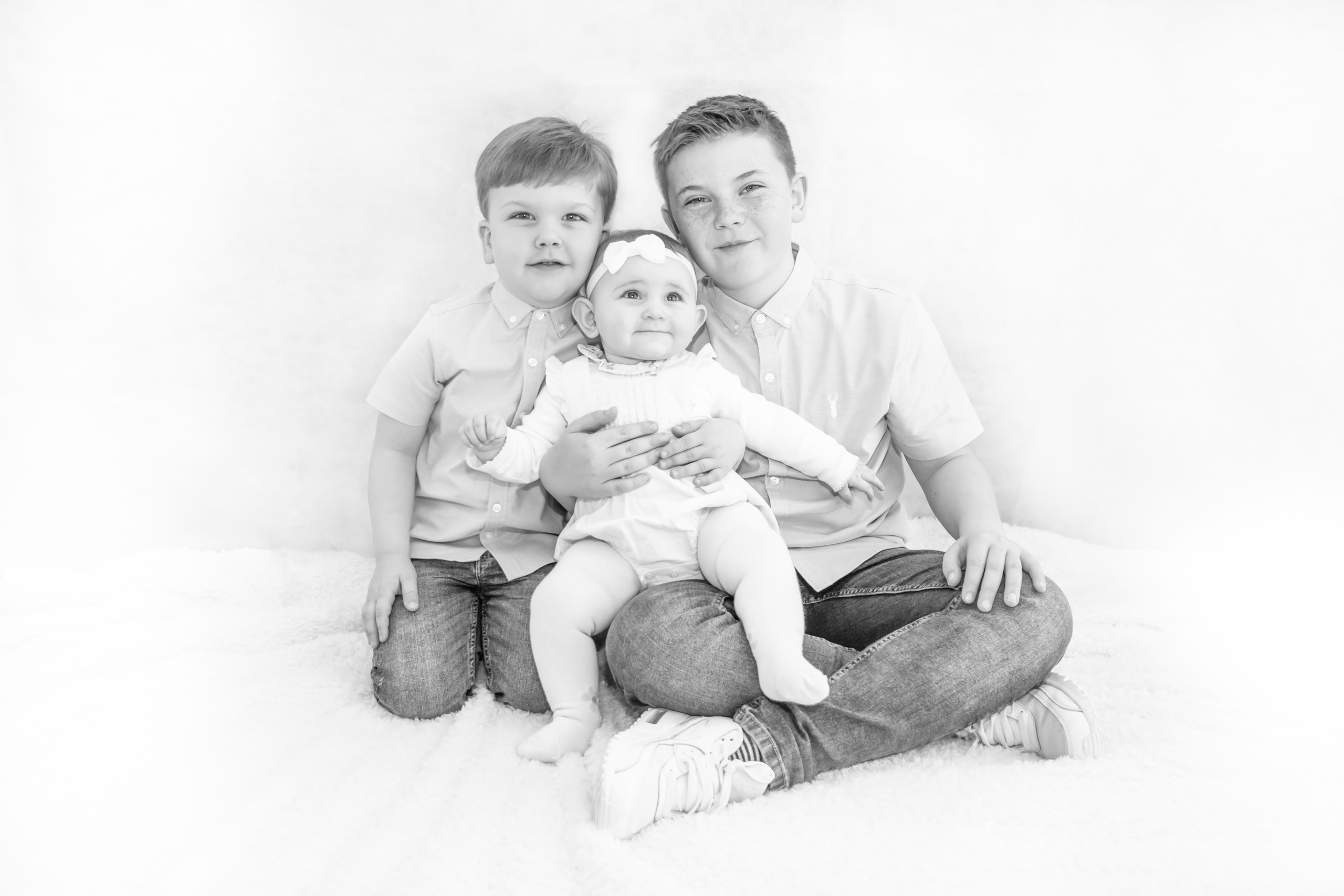 Swansea Family Portrait Black and White Photography. Photographer also covers the Gower, Carmarthenshire, Llanelli and South Wales for Babies, Children and Pets