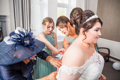 Natural Wedding Photography in Swansea, Carmarthen and The Gower of Bride's Dress