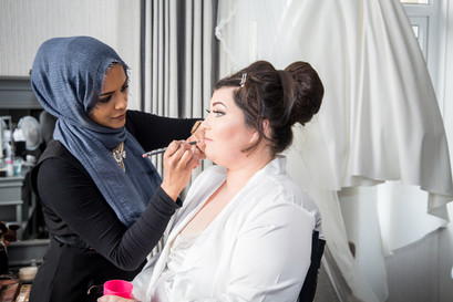 Wedding Photography Swansea, The Gower and Carmarthenshire of Bridal Preparations.Wedding Photography Swansea, The Gower and Carmarthenshire of Bridal Makeup with Farhana Ali in Swansea