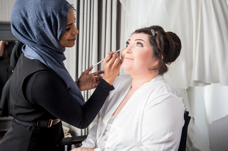 Smiling Bride Makeup Photography in Swansea, The Gower and Llanelli