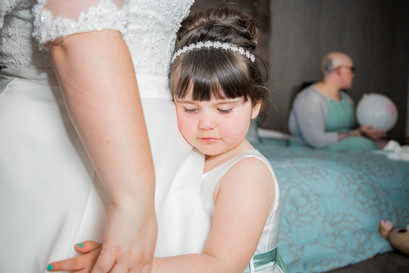 Natural Wedding Photography in Swansea, Carmarthen and The Gower of Bride's Daughter