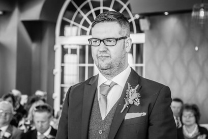 Wedding Photography Groom in Ceremony in Swansea, Carmarthenshire, The Gower and South Wales