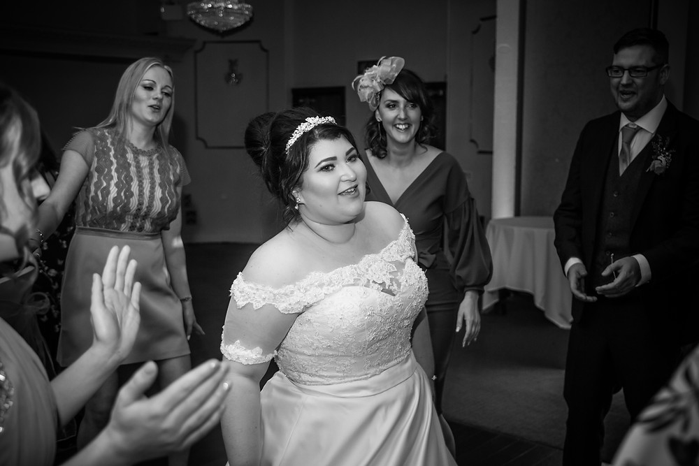 Bride Dancing Wedding Photography at Stradey Park Hotel, Carmarthenshire