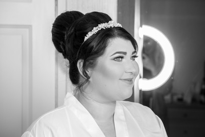 Natural Wedding Photography Photo of Bride Smiling around Swansea, Carmarthen and The Gower