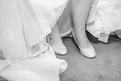 Natural Wedding Photography in Swansea, Carmarthen and The Gower of Bridal Shoes