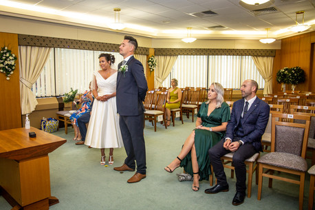 wedding photography in swansea civic centre