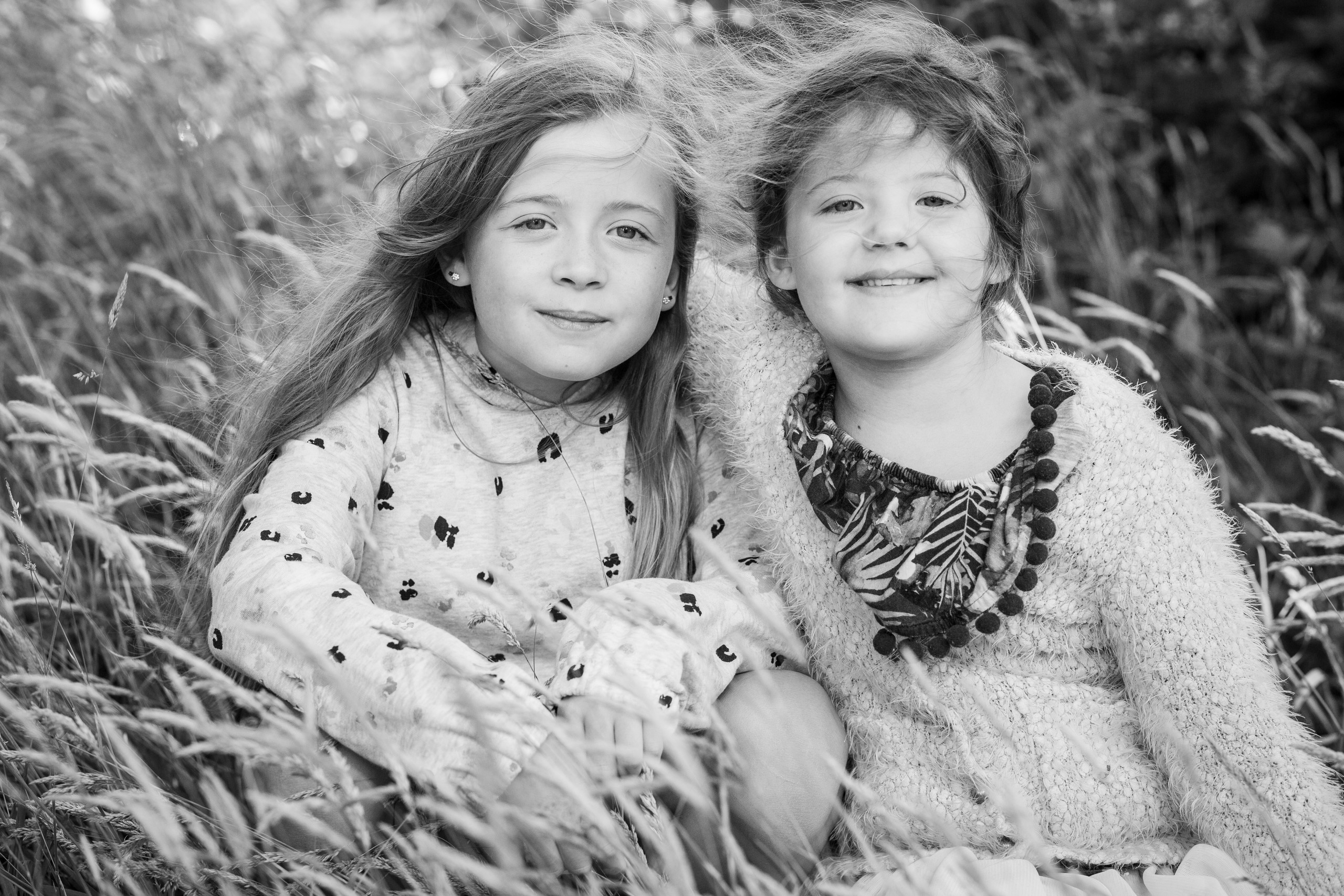 sisters pose in swansea woodland