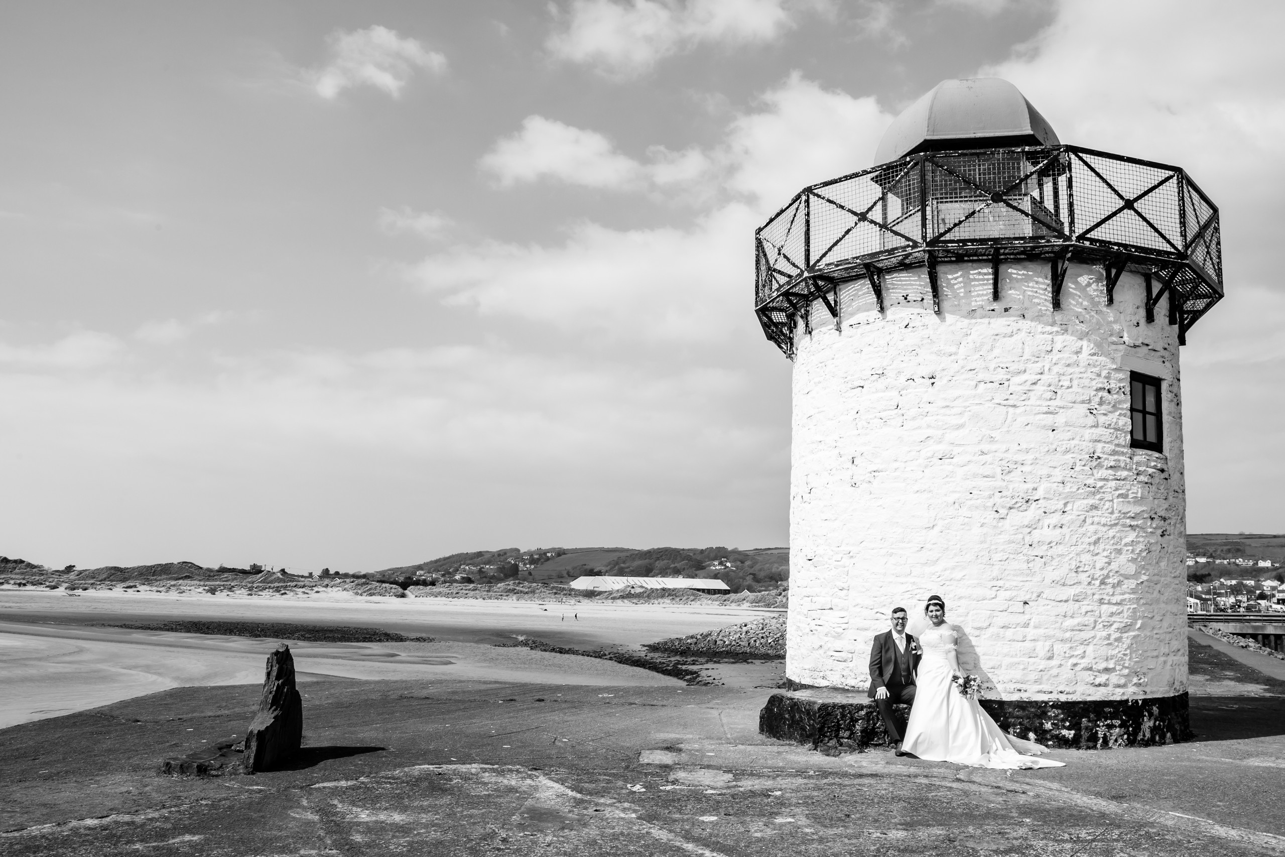 Burry Port Lighthouse Wedding Photography with the Gower and Swansea Beach