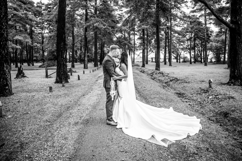 New Forest Wedding Photography Kiss