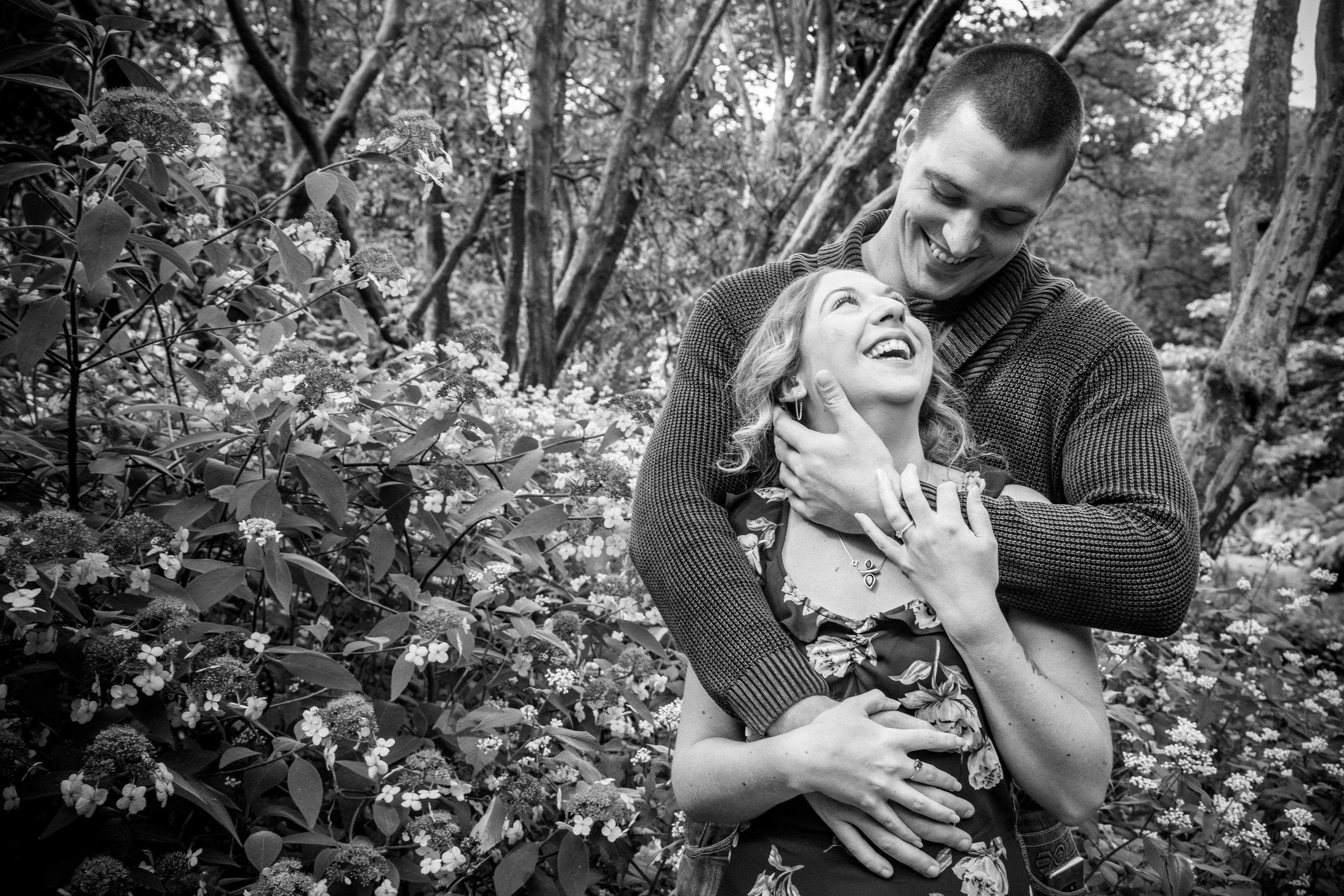 Clyne Garden Flowers and Engagement Photos