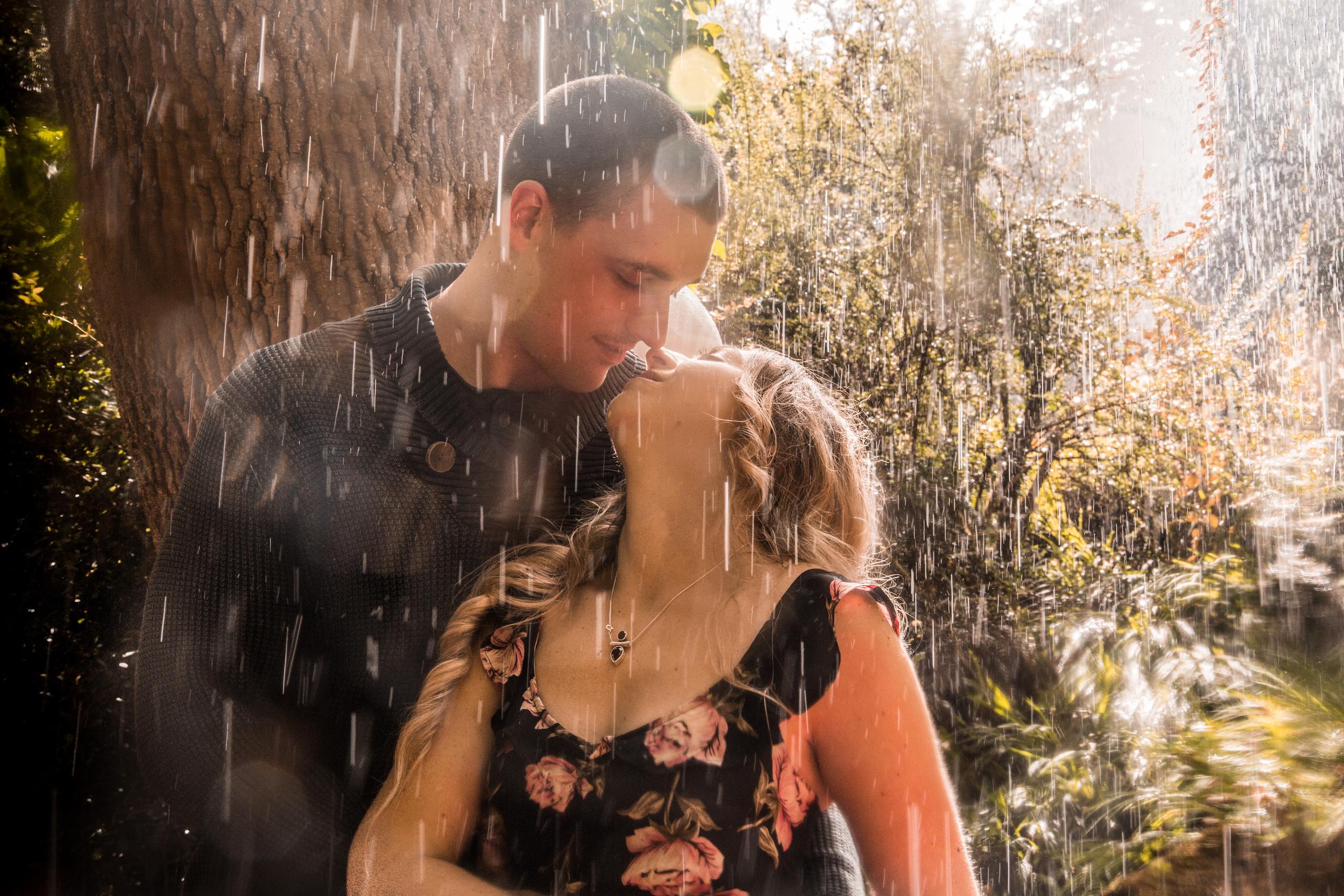 Rain at Clyne Garden Swansea Wedding and Engagement Photography