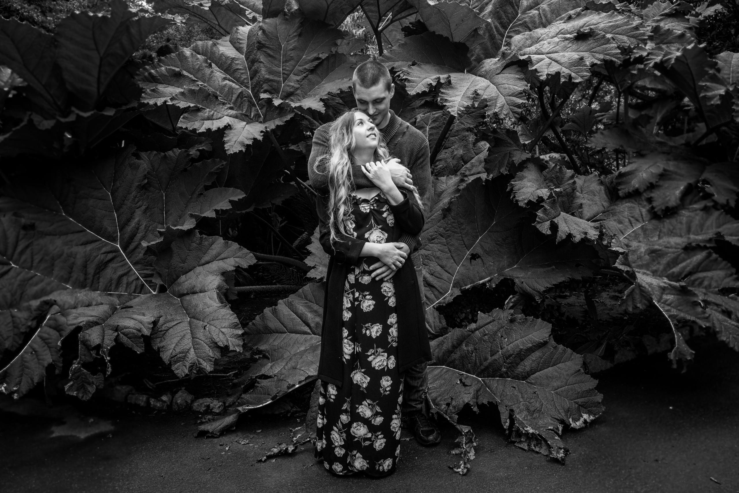 Engagement Photo Shoot in Clyne Gardens, Swansea
