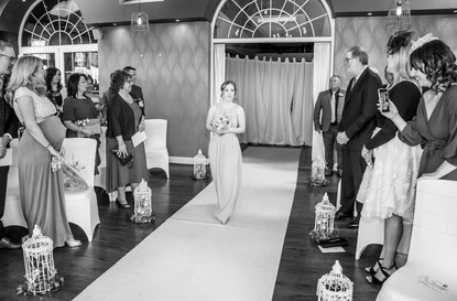 Bridesmaid Aisle Wedding Walk Photography in Swansea, Carmarthenshire, The Gower and South Wales