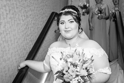 Bride Poses Before Wedding Ceremony Photography in Swansea, Carmarthenshire, The Gower and South Wales
