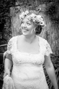 bride poses outside of a swansea wedding venue