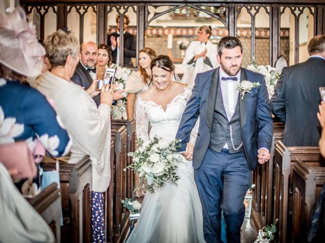 Church Wedding Ferryside, Carmarthenshire