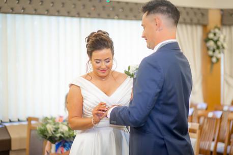 swansea bride and groom wedding rings