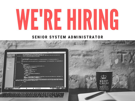 We're Hiring: Senior System Administrator