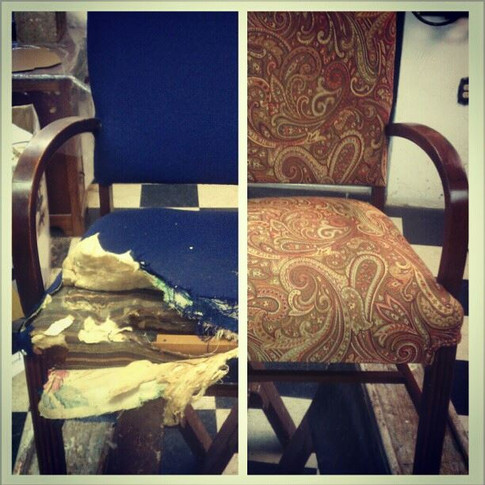 Paisley Chair Before/After