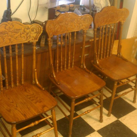 Spindle Kitchen Chairs (After)