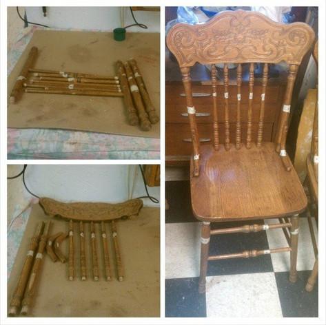 Spindle Kitchen Chair Reglue