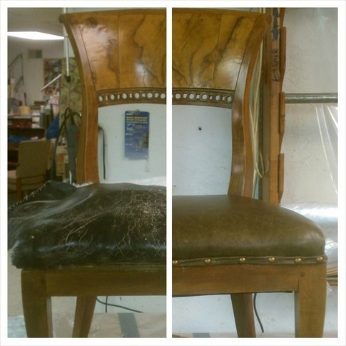 Marbled Wood Chair Before/After