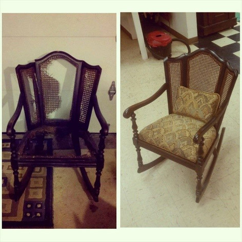 Caned Rocker Before/After