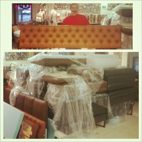 Restaurant Booth Seats and Tufted Backs
