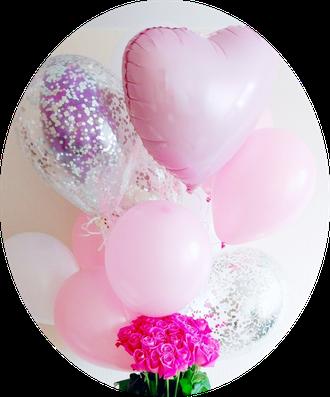 """Фонтан шаров """"Розовый букет № 256"""