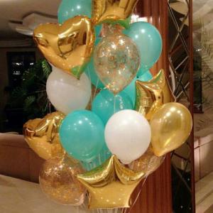 Фонтан шаров «Золотая мята» № 258