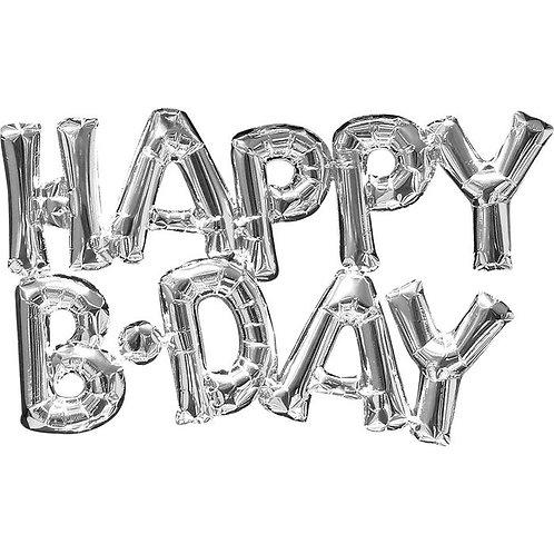 "Надпись серебряная ""Happy Birthday"""