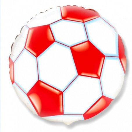 """Круг """"Футбольный мяч, красный"""", 45 см"""