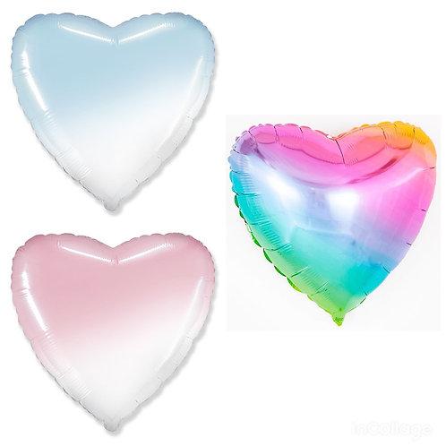 Сердце градиент и радуга, 81 см