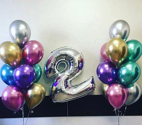 Фонтаны шаров + цифра № 231