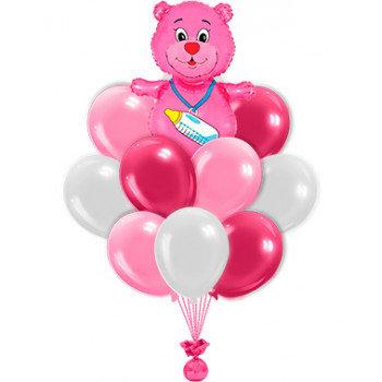 Фонтан шаров для девочки №106