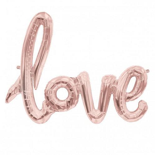 """Надпись розовое золото""""Love"""""""
