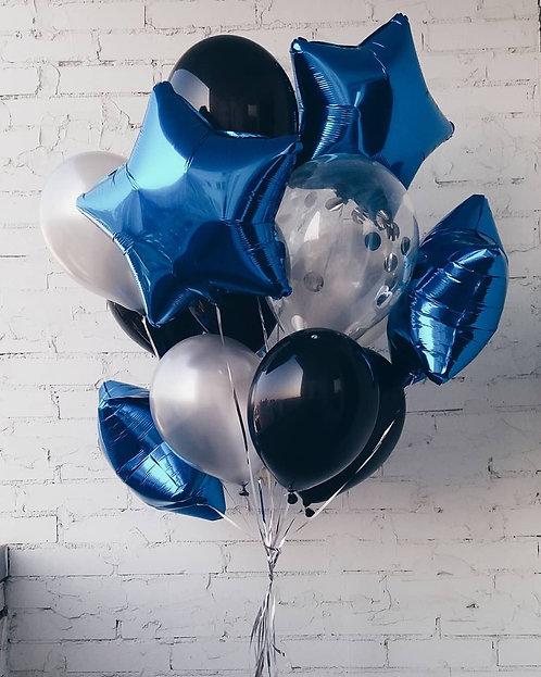 """Фонтан шаров  """"Синий принц """" №145"""