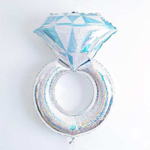 """Шар """"Кольцо с бриллиантом"""" (голография), 97 см"""
