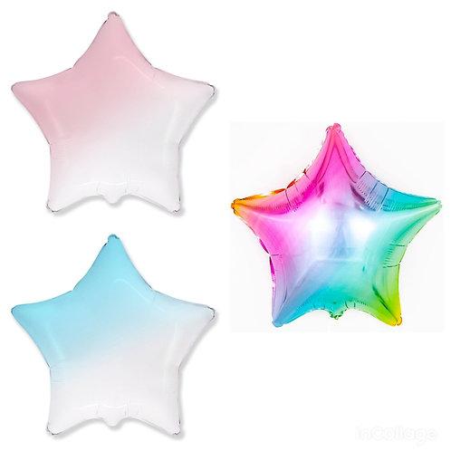 Звезда градиент и радуга, 81 см