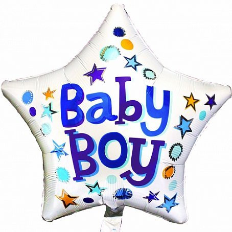 """Звезда """"Baby Boy"""", 45 см"""