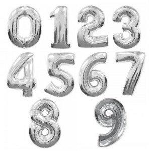 "102см  ""Цифра""серебро"