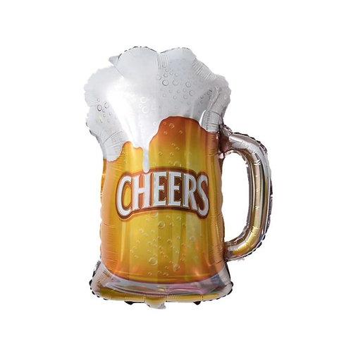 """Шар""""Пиво в кружке"""", 74см"""