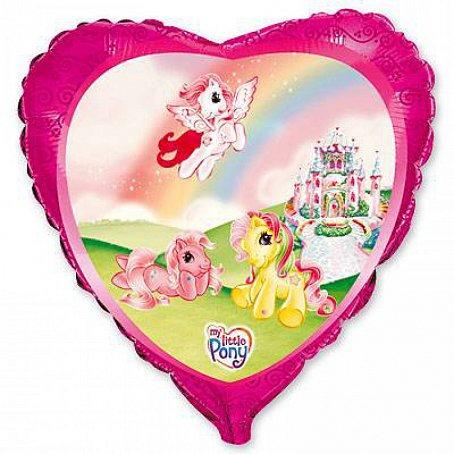 """Сердце """"Пони на радуге"""", 45 см"""