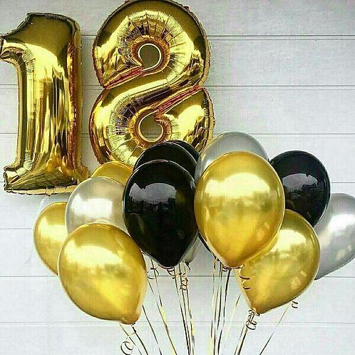 Облако шаров с двумя цифрами № 120