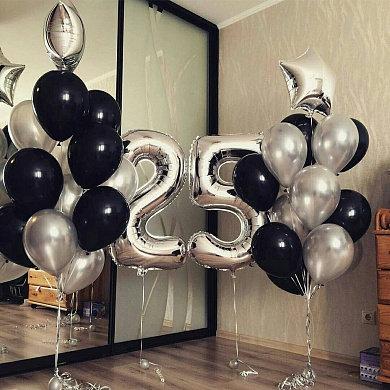 Фонтаны шаров + цифра №152