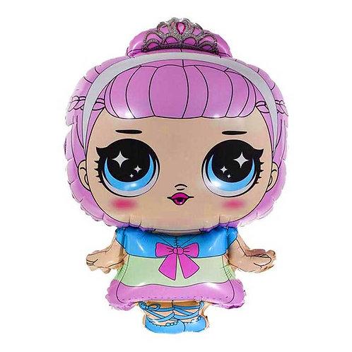 """Шар """"Модная кукла"""" (маленькая принцесса), 79 см"""