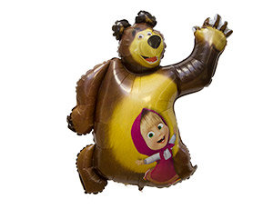 "Шар ""Маша и медведь"", 102см"