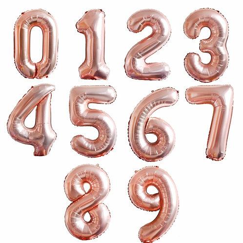 """102см """"Цифра""""розовое золото"""